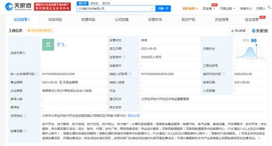 长城汽车成立智行科技公司注册资本5亿